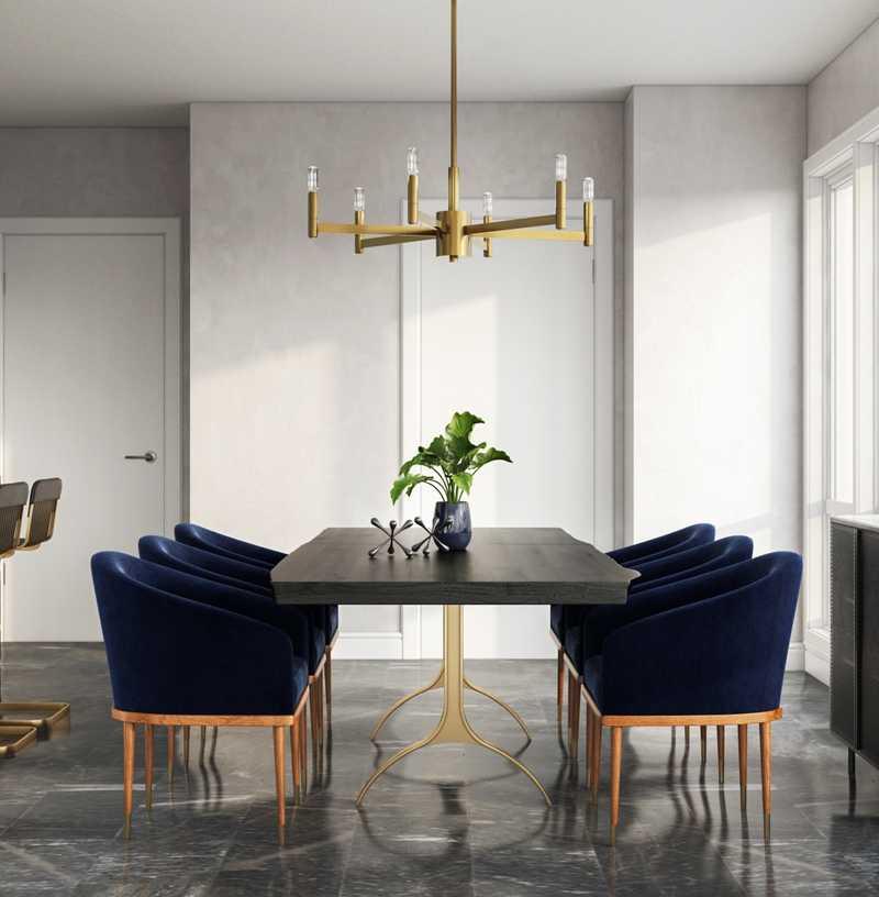 Contemporary, Modern, Bohemian, Glam Dining Room Design by Havenly Interior Designer Melissa
