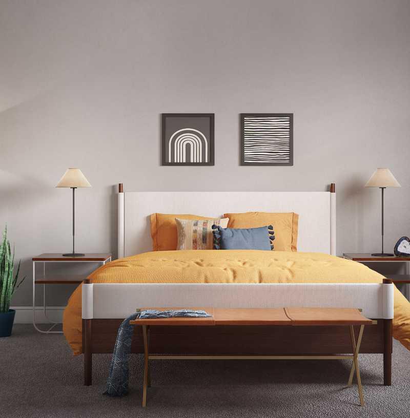 Modern, Bohemian, Scandinavian Bedroom Design by Havenly Interior Designer Erica