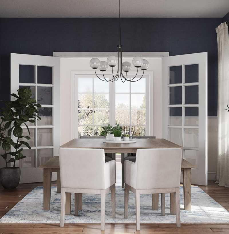 Classic, Glam, Preppy Dining Room Design by Havenly Interior Designer Kylie