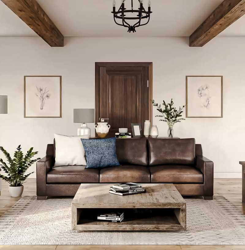 Farmhouse Living Room Design by Havenly Interior Designer Mariel