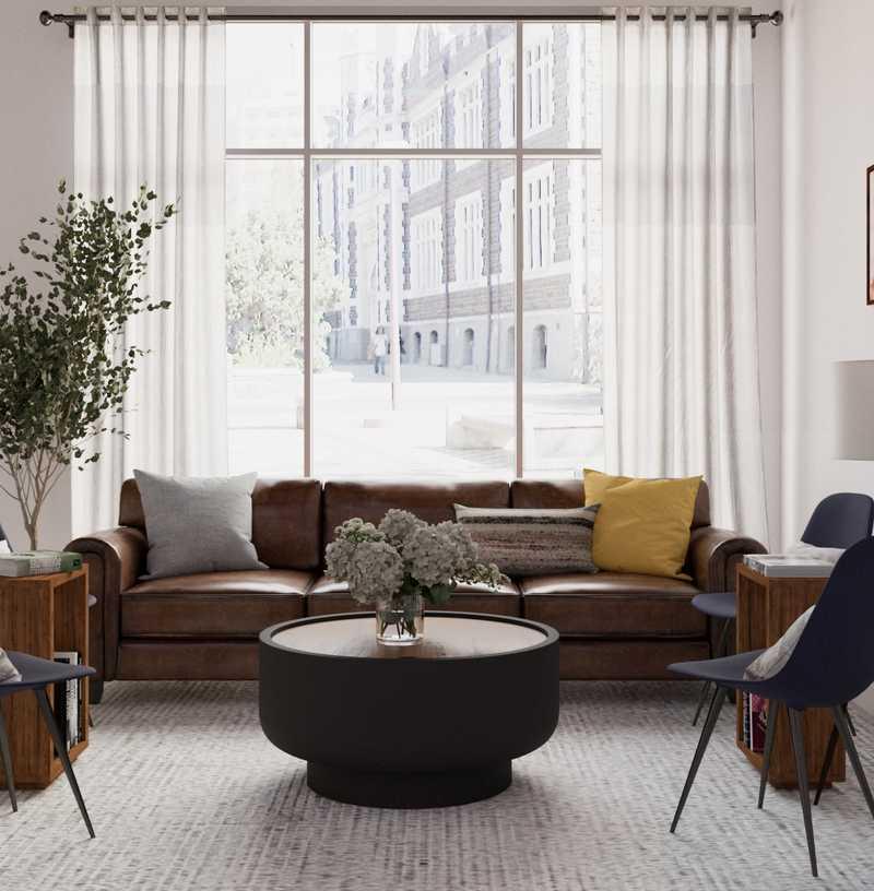 Bohemian, Scandinavian Office Design by Havenly Interior Designer Jen