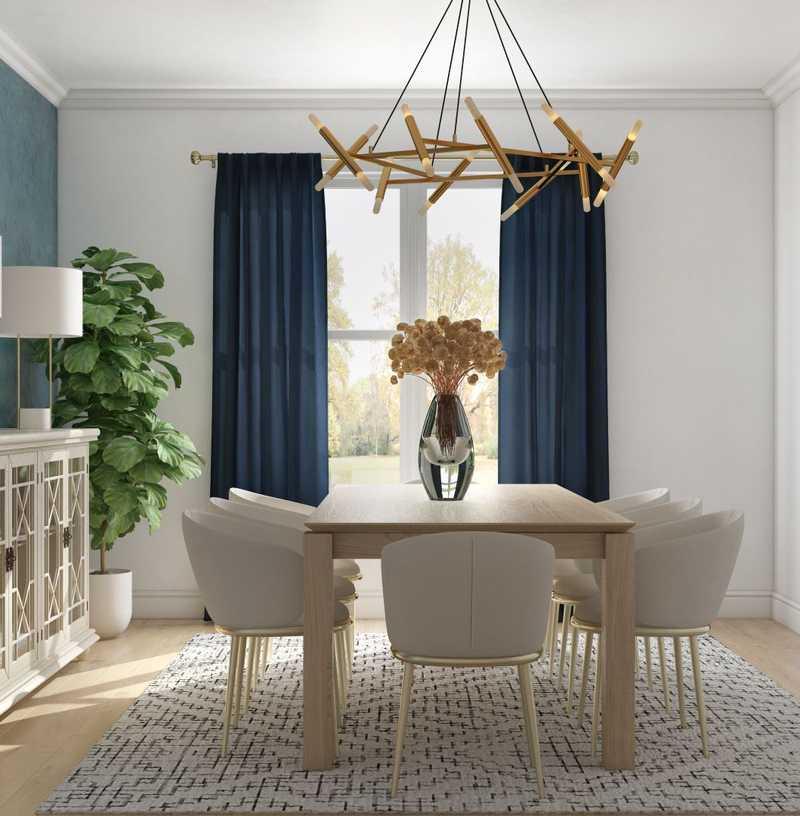 Contemporary, Bohemian, Traditional Dining Room Design by Havenly Interior Designer Mariela