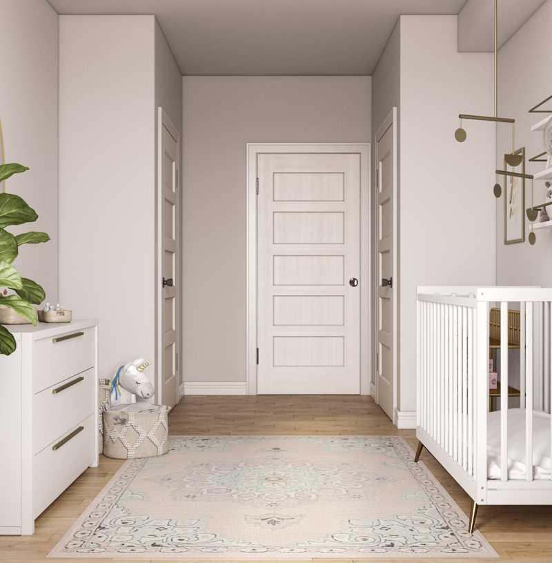 Modern, Eclectic, Midcentury Modern Nursery Design by Havenly Interior Designer Marcelo