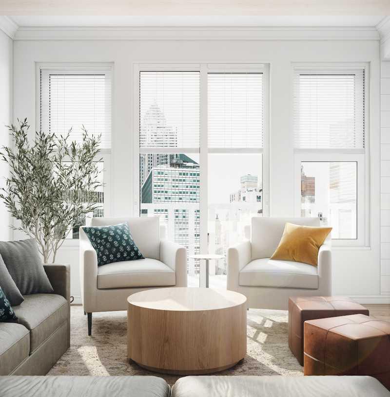 Transitional, Scandinavian Living Room Design by Havenly Interior Designer Laura