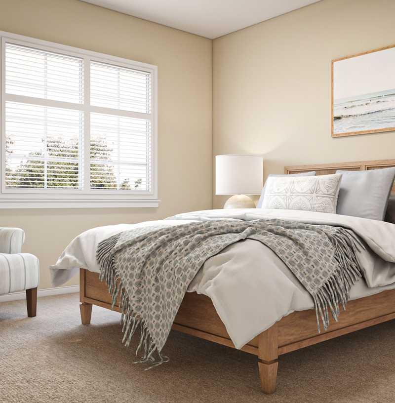 Classic, Coastal, Farmhouse Bedroom Design by Havenly Interior Designer Christina