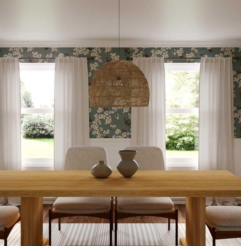 Coastal, Transitional Dining Room Design by Havenly Interior Designer Rebecca