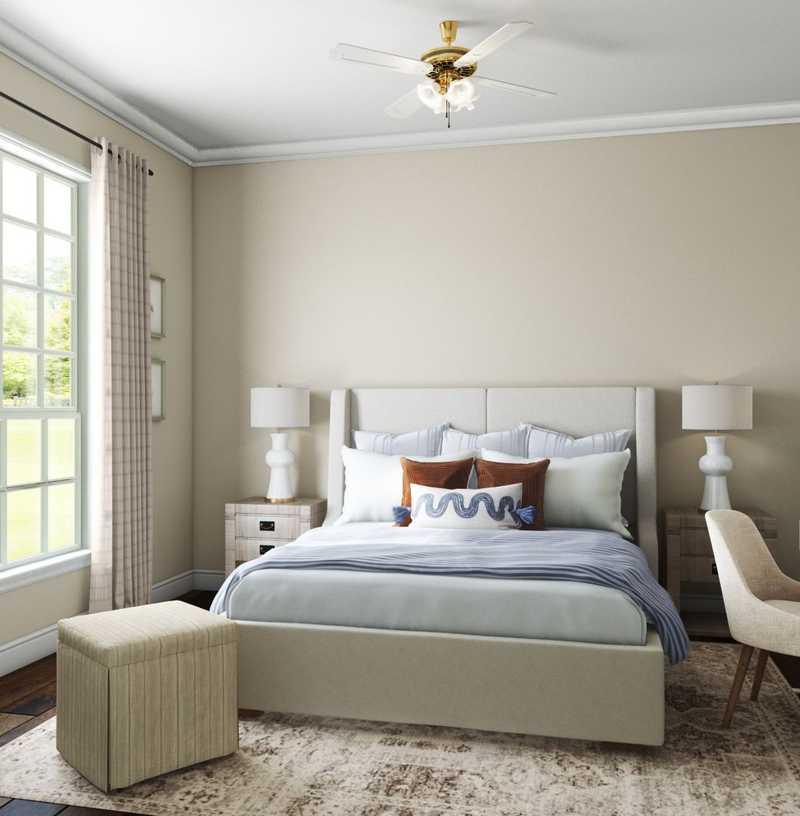 Contemporary, Bohemian, Coastal, Traditional, Farmhouse, Transitional Bedroom Design by Havenly Interior Designer Lisa