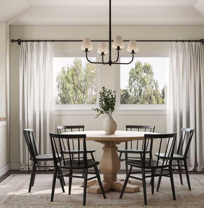 Bohemian, Coastal, Scandinavian Dining Room Design by Havenly Interior Designer Nicole