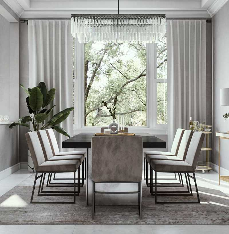 Contemporary, Modern, Glam Dining Room Design by Havenly Interior Designer Athina