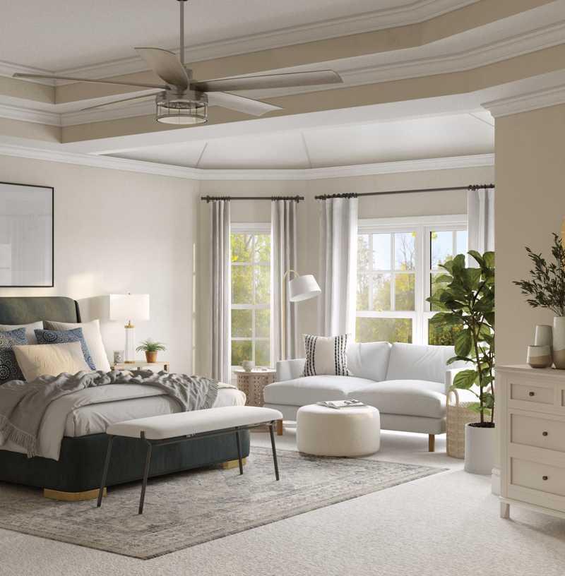 Contemporary, Classic, Bohemian, Coastal, Traditional, Farmhouse, Rustic, Transitional, Classic Contemporary, Scandinavian Bedroom Design by Havenly Interior Designer Lisa