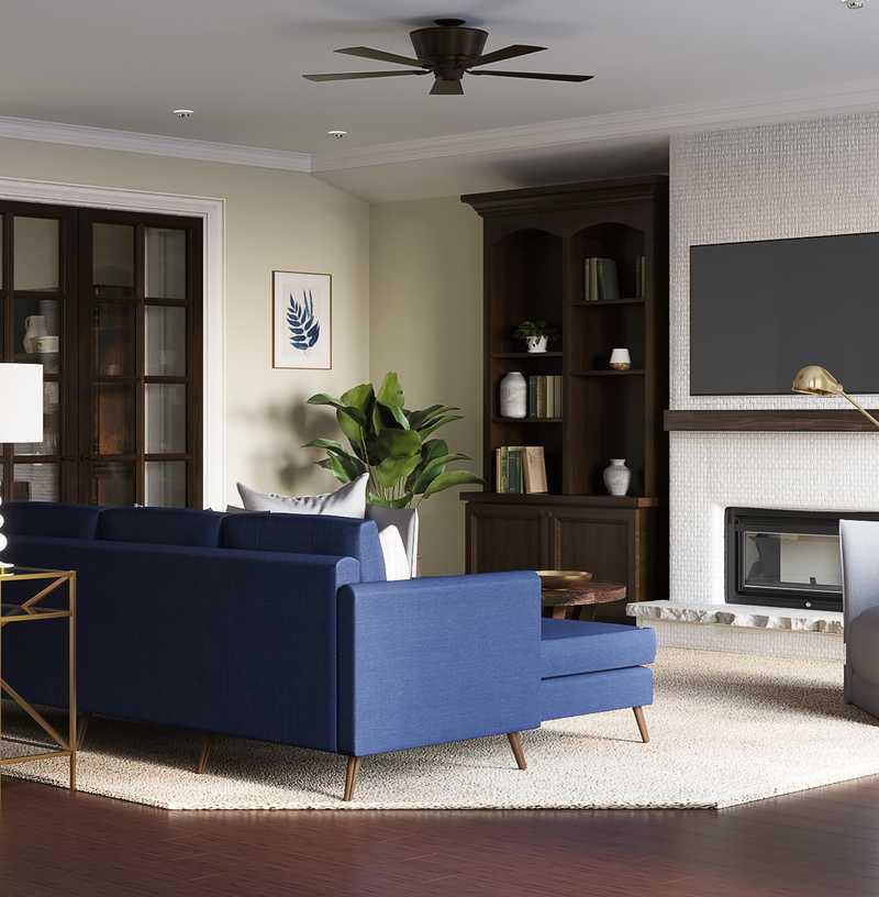 Modern, Classic Living Room Design by Havenly Interior Designer Kasia