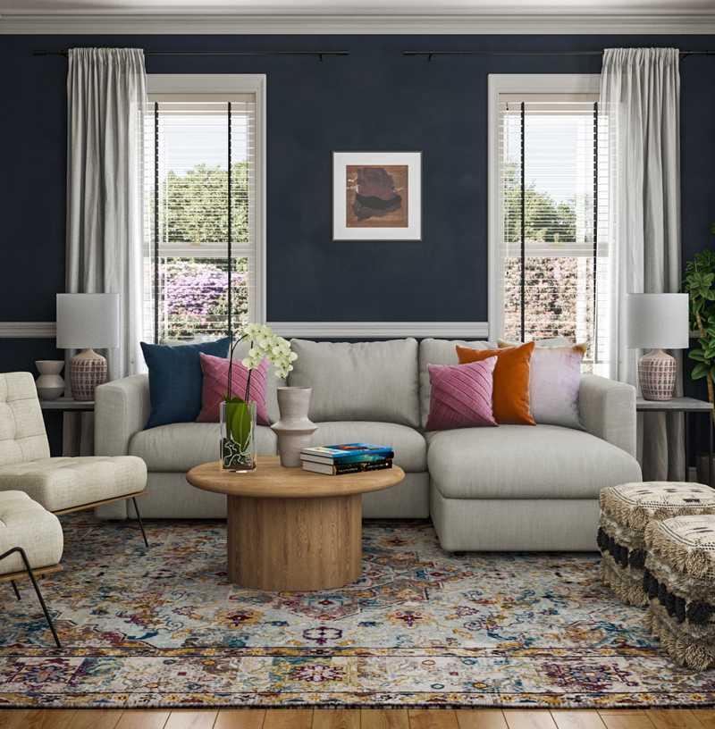 Modern, Midcentury Modern, Scandinavian Living Room Design by Havenly Interior Designer Carla