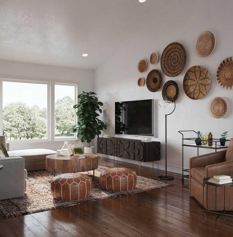 Modern, Rustic Living Room Design by Havenly Interior Designer Carla
