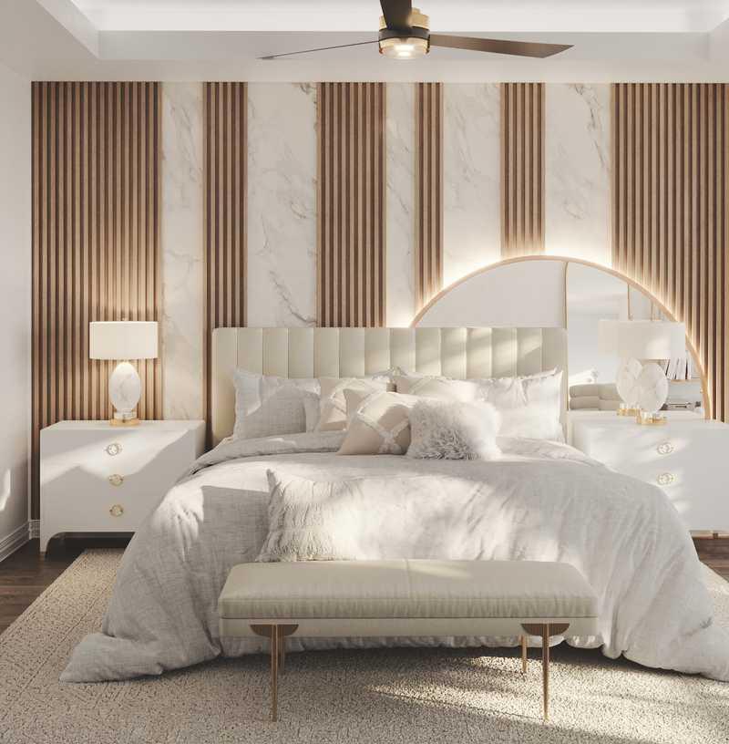 Contemporary, Glam Bedroom Design by Havenly Interior Designer Denise