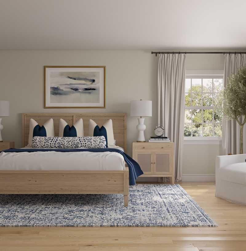 Classic, Coastal, Traditional, Transitional, Preppy Bedroom Design by Havenly Interior Designer Lisa