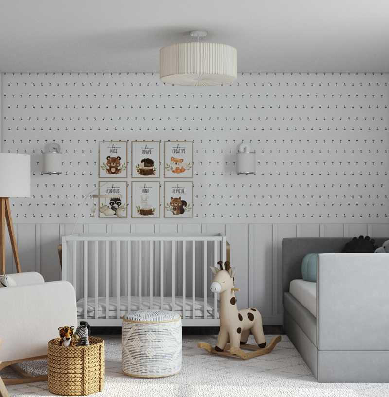 Midcentury Modern, Scandinavian Nursery Design by Havenly Interior Designer Regina