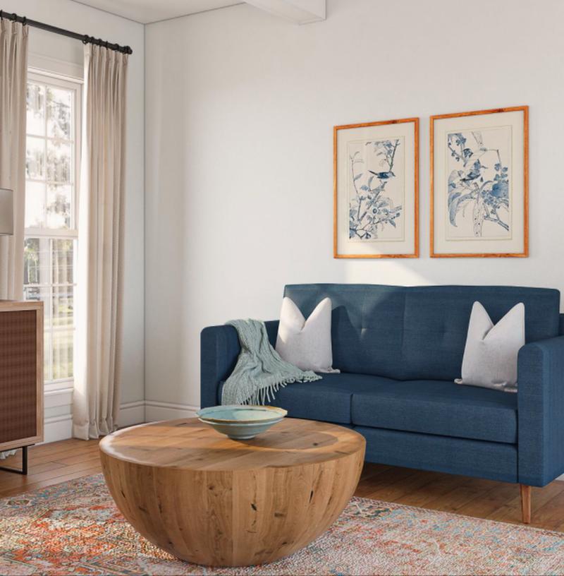 Classic, Coastal Living Room Design by Havenly Interior Designer Tiffany
