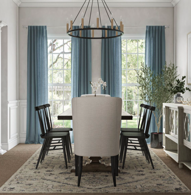 Bohemian, Classic Contemporary Dining Room Design by Havenly Interior Designer Tiffany