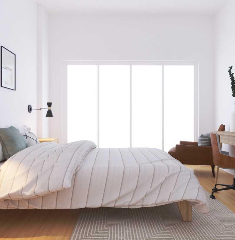 Midcentury Modern, Minimal, Scandinavian Bedroom Design by Havenly Interior Designer Katie