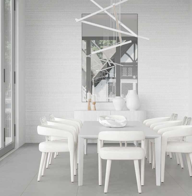 Contemporary, Modern, Minimal Dining Room Design by Havenly Interior Designer Courtney