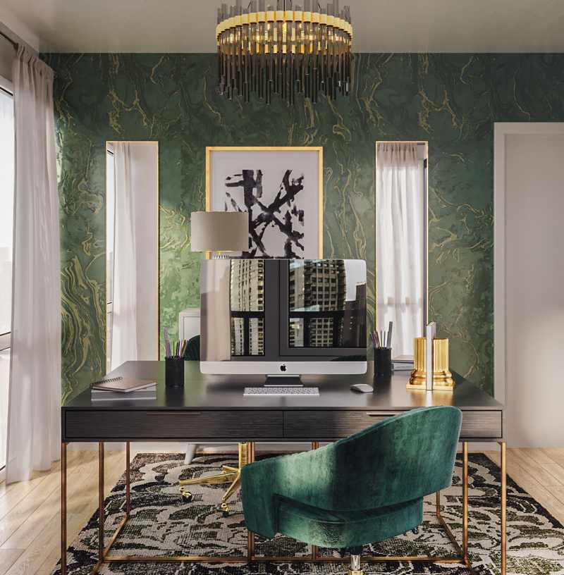 Contemporary, Modern, Glam Office Design by Havenly Interior Designer Melisa