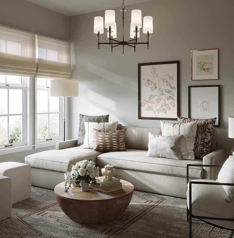 Bohemian, Farmhouse, Scandinavian Living Room Design by Havenly Interior Designer Maria