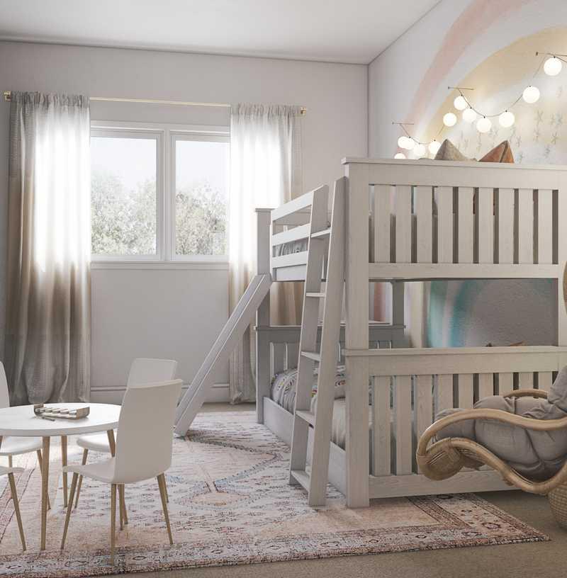 Modern, Eclectic, Bohemian, Midcentury Modern, Minimal, Preppy Nursery Design by Havenly Interior Designer Elle