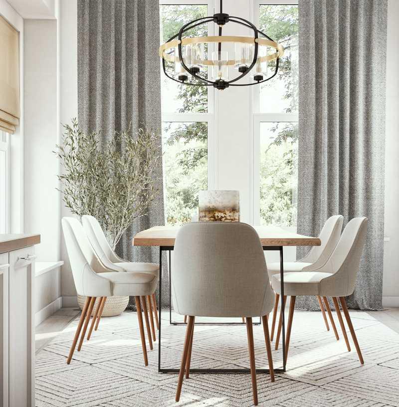 Bohemian, Midcentury Modern Dining Room Design by Havenly Interior Designer Jennifer