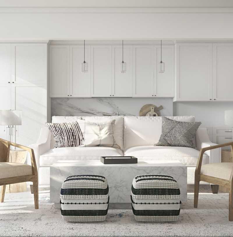 Contemporary, Classic, Bohemian, Rustic Living Room Design by Havenly Interior Designer Rebecca