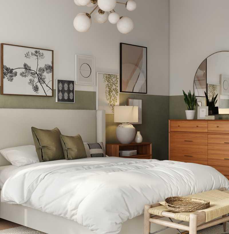Contemporary, Modern, Eclectic, Bohemian, Midcentury Modern Bedroom Design by Havenly Interior Designer Elle