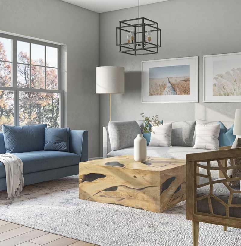 Modern, Classic, Coastal Living Room Design by Havenly Interior Designer Christina