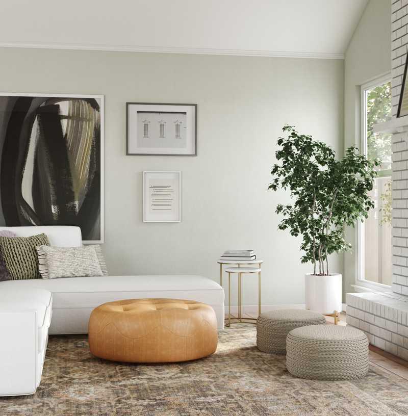 Contemporary, Bohemian, Coastal Living Room Design by Havenly Interior Designer Robyn