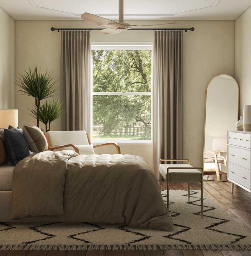 Midcentury Modern, Minimal, Classic Contemporary Bedroom Design by Havenly Interior Designer Stephanie