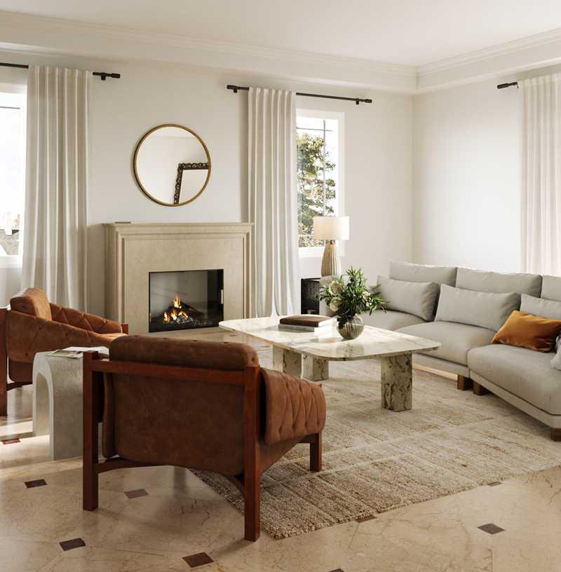 Modern, Glam Living Room Design by Havenly Interior Designer Kate