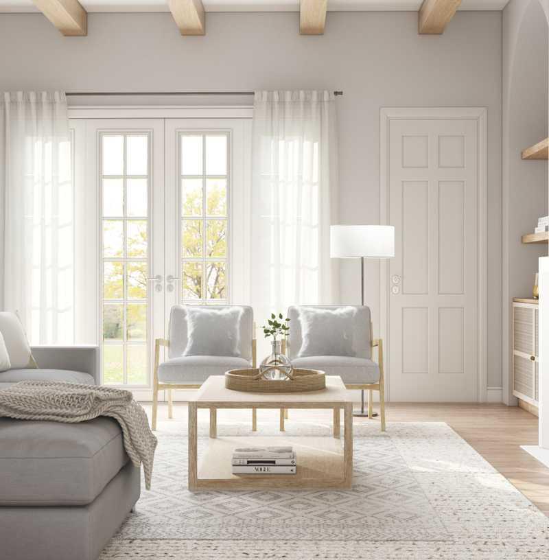 Contemporary, Classic, Farmhouse, Midcentury Modern Living Room Design by Havenly Interior Designer Amanda