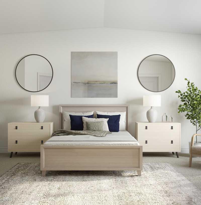 Farmhouse, Rustic Bedroom Design by Havenly Interior Designer Danielle