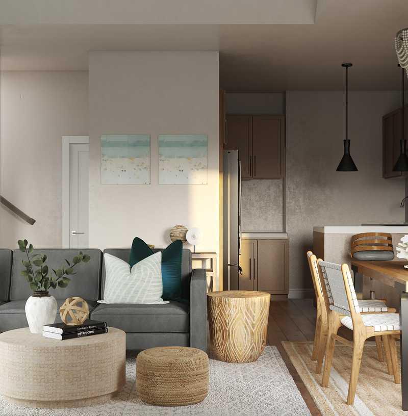 Coastal, Glam Living Room Design by Havenly Interior Designer Veridiana