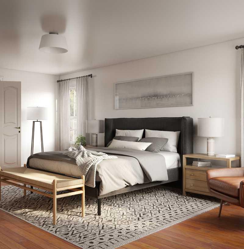 Bohemian, Glam Bedroom Design by Havenly Interior Designer Claire