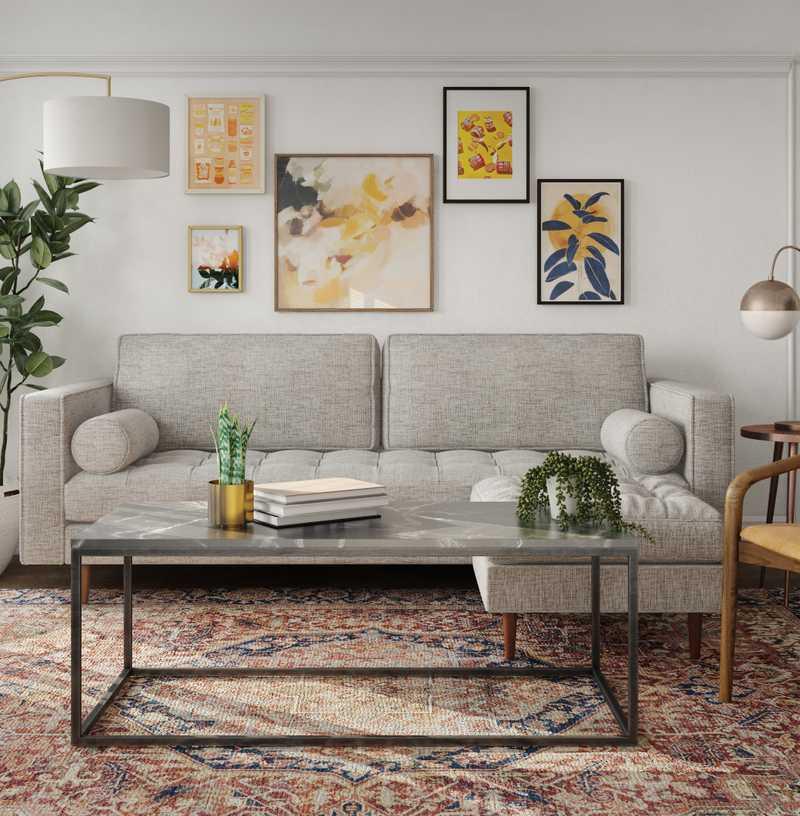 Midcentury Modern, Scandinavian Living Room Design by Havenly Interior Designer Carla