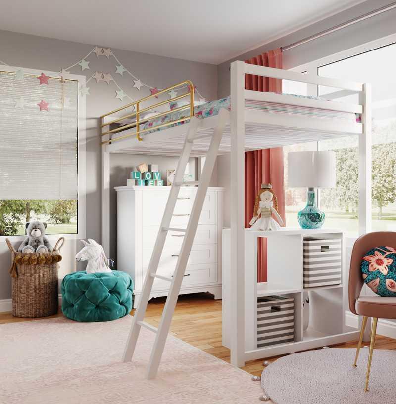 Glam, Traditional, Preppy Bedroom Design by Havenly Interior Designer Ashley