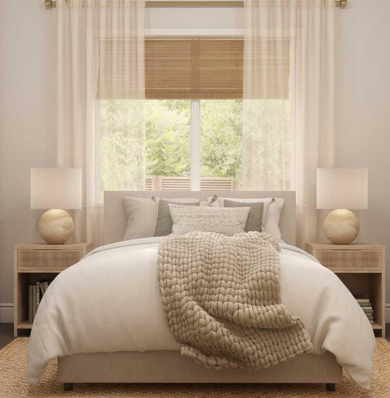 Contemporary, Bohemian Bedroom Design by Havenly Interior Designer Brittney