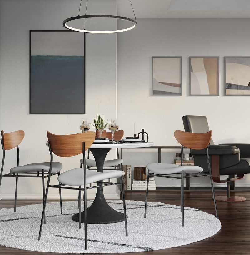 Modern, Industrial, Midcentury Modern Dining Room Design by Havenly Interior Designer Lena