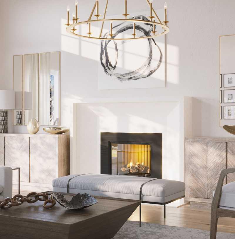 Farmhouse Living Room Design by Havenly Interior Designer Gonzalo