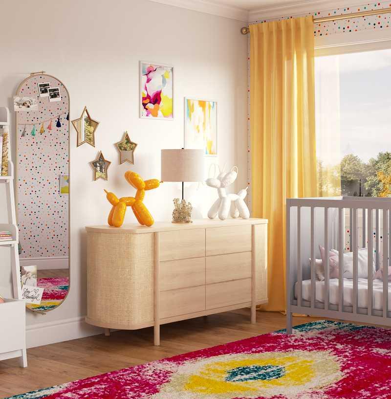 Bohemian, Transitional, Preppy Bedroom Design by Havenly Interior Designer Ariadna