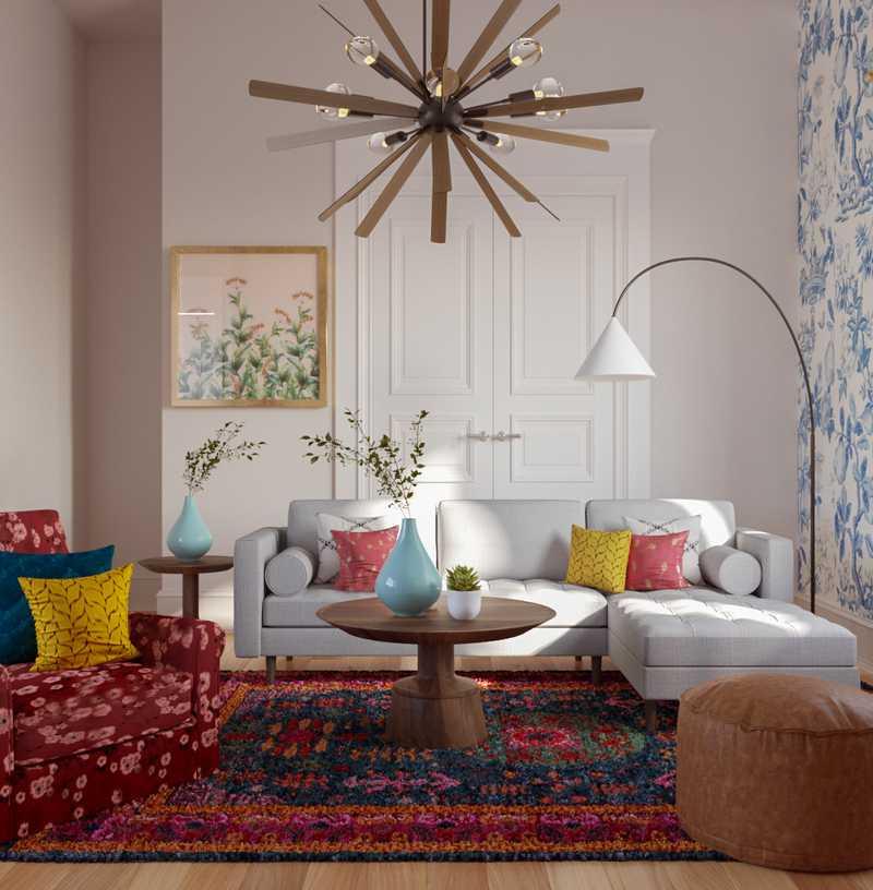 Eclectic Living Room Design by Havenly Interior Designer Francisco