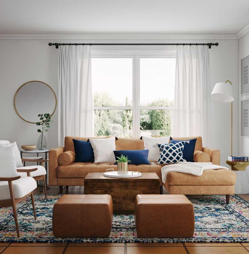 Modern, Bohemian, Farmhouse, Preppy Living Room Design by Havenly Interior Designer Amanda