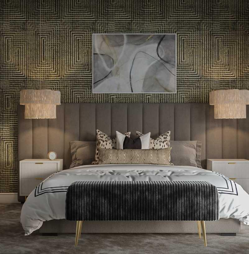 Contemporary, Modern, Glam, Industrial, Transitional, Midcentury Modern, Minimal Living Room Design by Havenly Interior Designer Abi