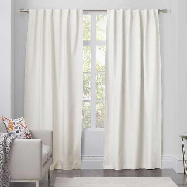 Linen Cotton Curtain - Ivory - West Elm
