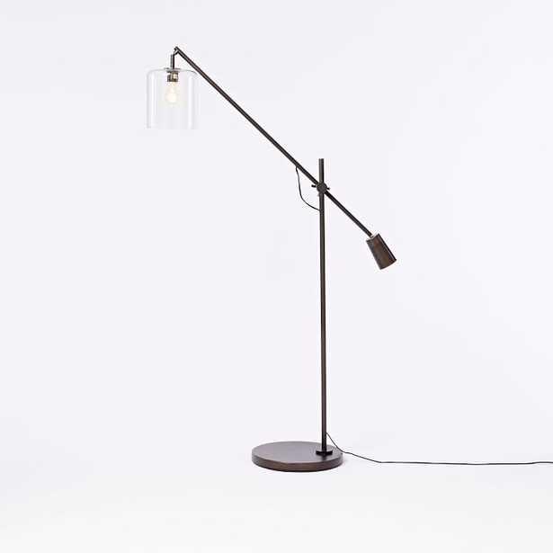 Adjustable Glass Floor Lamp - West Elm