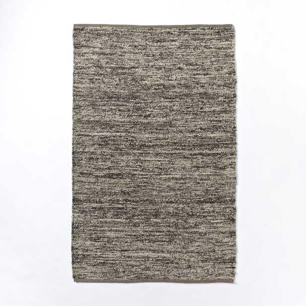 Sweater Wool Rug - Charcoal - 3'x5' - West Elm